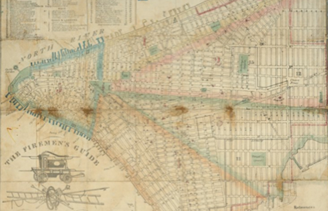 Carte de 1886 new york
