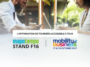 Mapotempo participera au salon Mobility for Business les 17 et 18 octobre 2017, stand F16