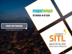 Mapotempo attends the SITL 2018, stand 6-E120