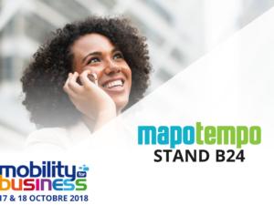 Mapotempo participe au salon Mobility for Business les 17 et 18 octobre 2018, stand B24