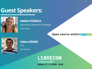 Mapotempo as guest speaker during the LIBRECON – November 21 and 22 in Bilbao