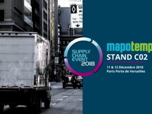 Mapotempo participe au salon Supply Chain Event les 11 et 12 décembre 2018, stand C02